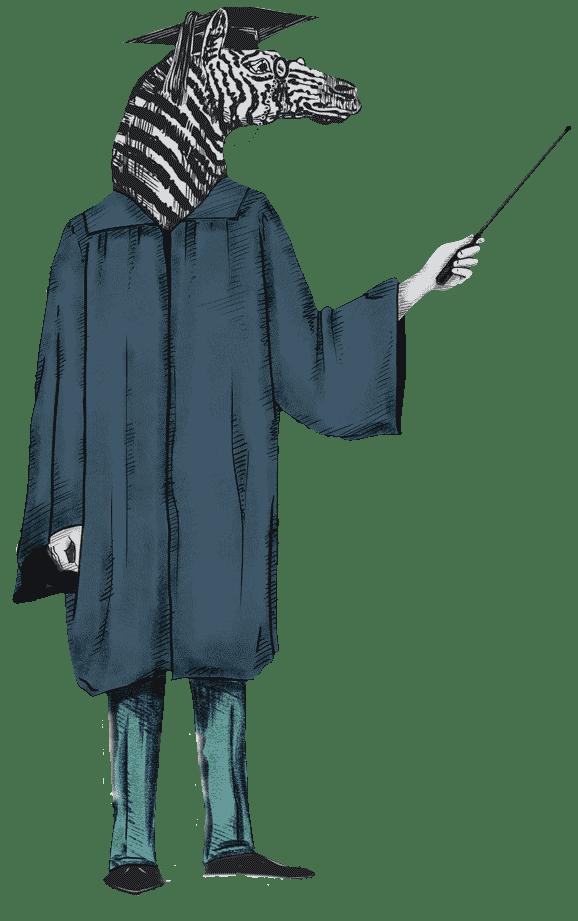 zac zebra professor